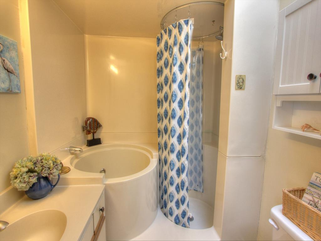 Master Bathroom with a whirlpool tub and separate shower