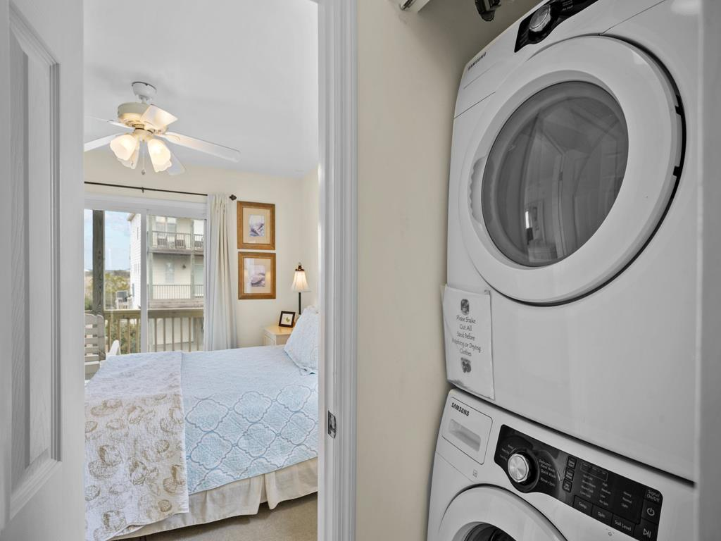 Covered Deck w/ Access from Queen and Bunkbedroom w/Pool View
