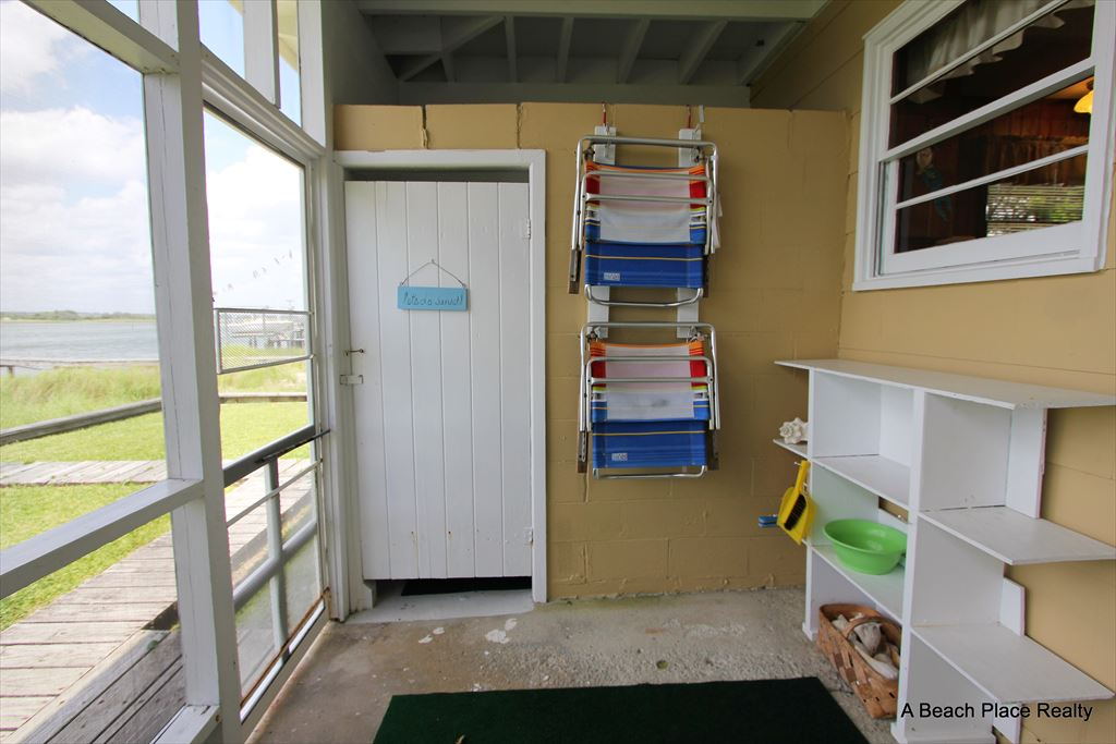 Enclosed Shower in Screen Porch