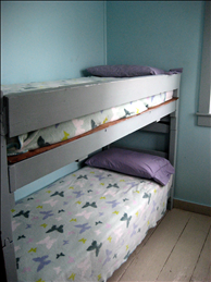 Built in bunk beds