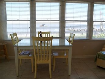 Dining Table overlooks Ocean