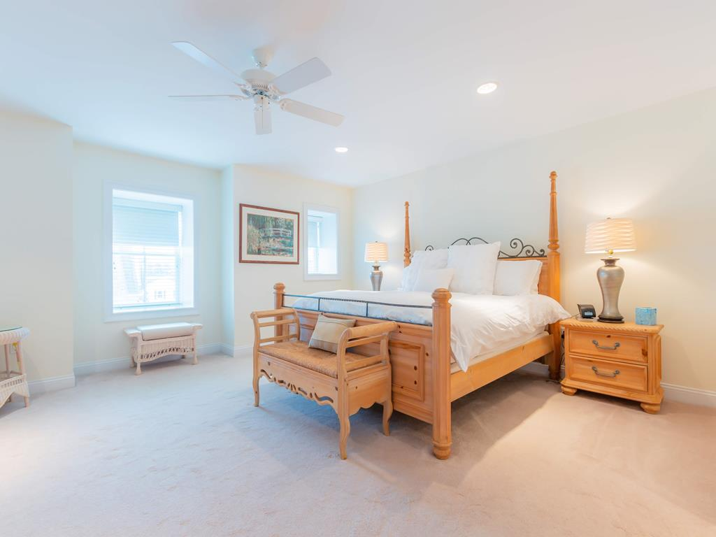 Third floor offers lovely master suite with King Bed