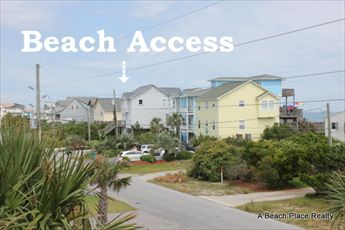 View of Beach Access from Deck