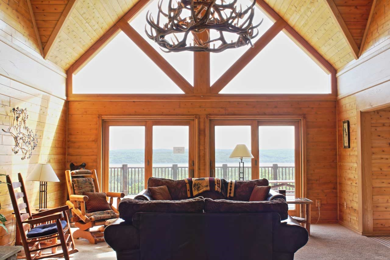 Back deck with views of Lake Charlevoix
