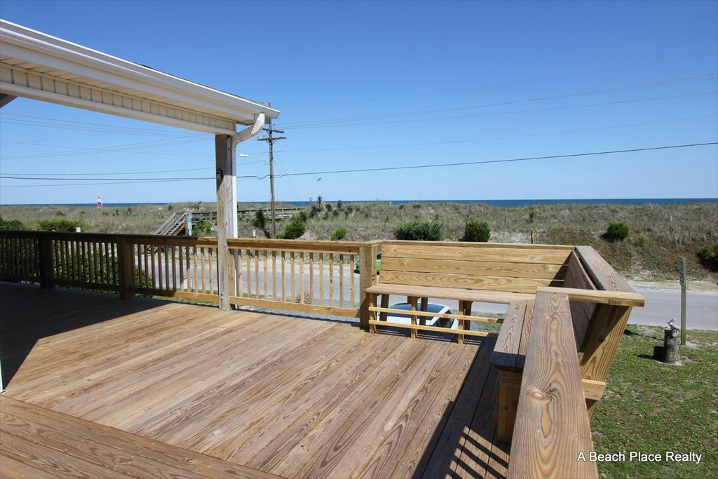Front Deck with unobstructed Ocean Views