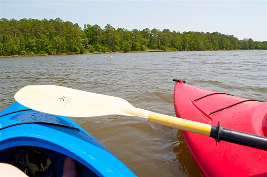 Kayaks are available for guests as well as fishing gear