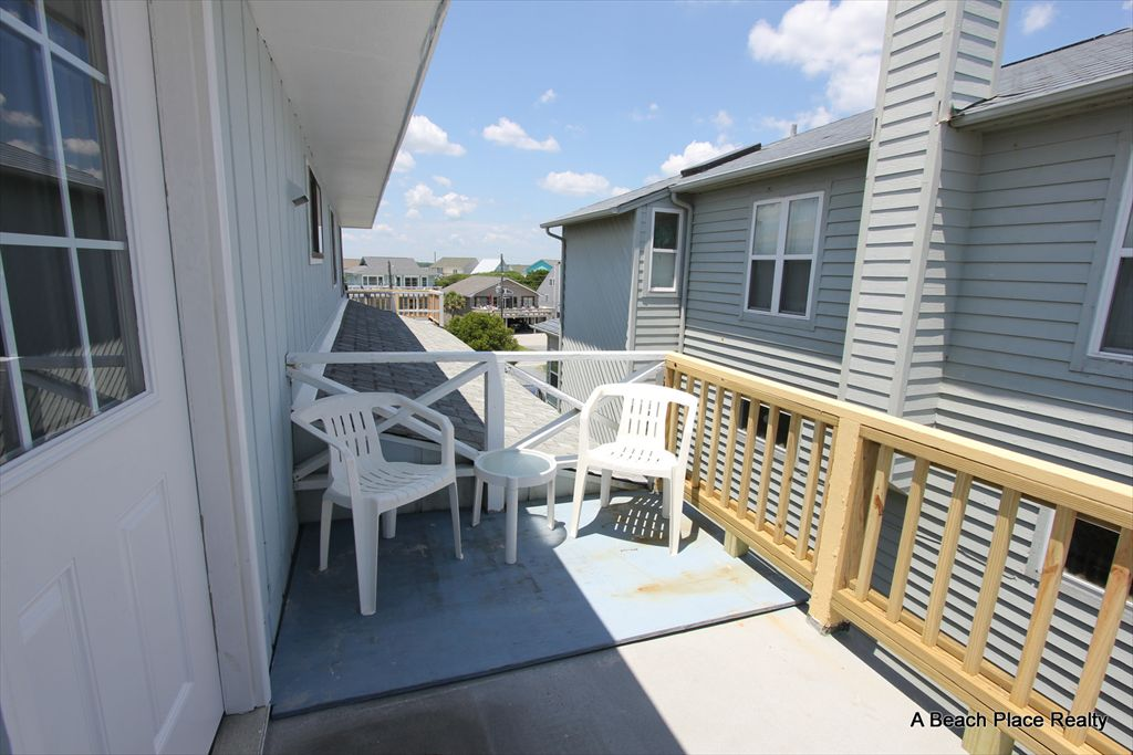 Streetside deck located off the Bedrooms