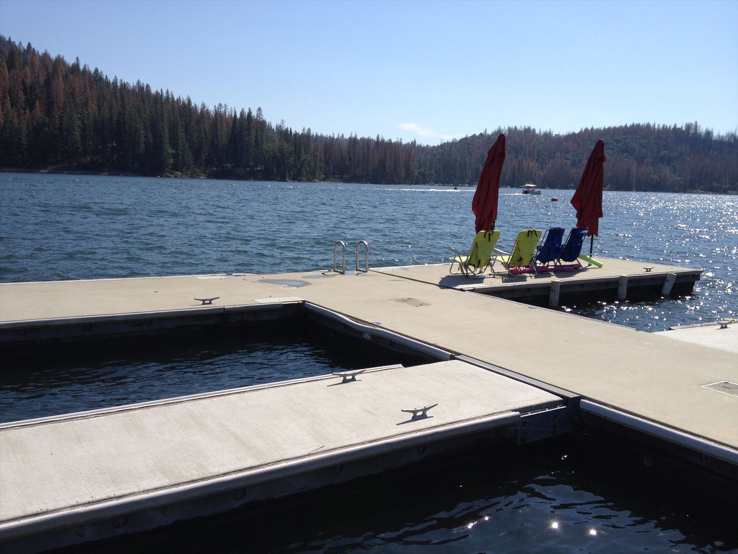 Boatslip A-2 is Extra Wide-so bring your favorite deck chairs so you can sit back, chat and enjoy the views and all the action on the lake.