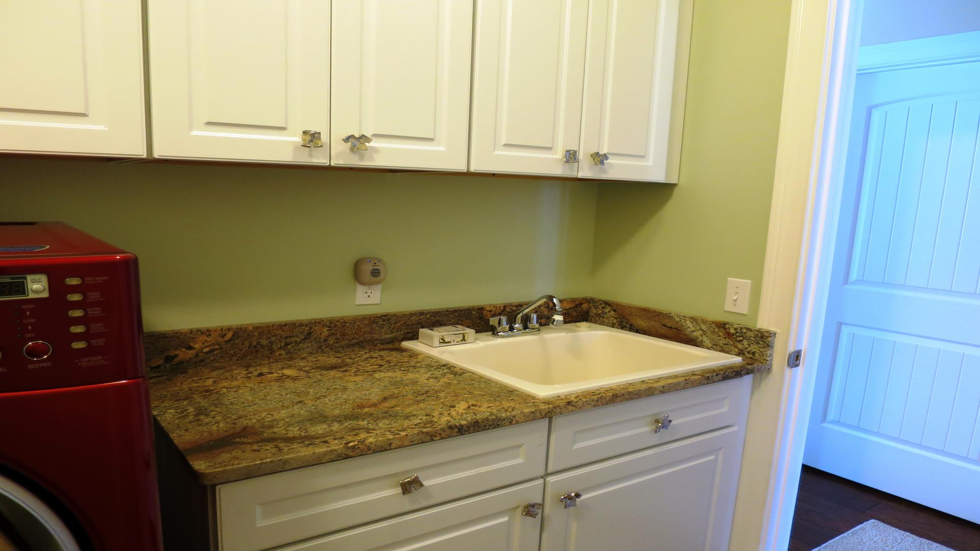 Counter in laundry room